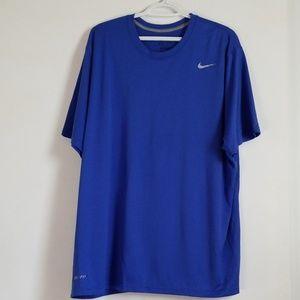 Nike Blue Dri Fit Short Sleeve Shirt